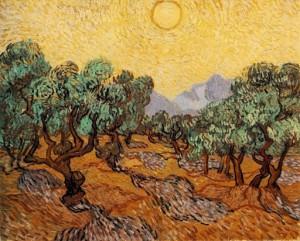 Sol entre olivos - Vincent Van Gogh